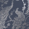 Holden Decor Glistening Peacock Navy Blue Wallpaper (12960)