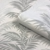 Belgravia Aria Fern Wallpaper - Silver / Grey (4661)