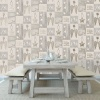 Crown Starlight Home Wallpaper - Gold/Grey (M1489)