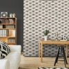 Muriva 3D Brick Effect Wallpaper - Stone (L57127)