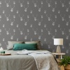 Muriva Catherine Lansfield Stags Grey Wallpaper (165513)