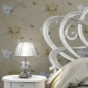 Muriva Couture Floral Vinyl Wallpaper - Gold/Silver (701413)