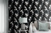 Muriva Lipsy Floral Wallpaper - Black (144053)