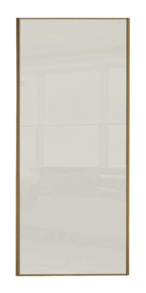 Classic Single Panel door with oak frame and single arctic white glass panel