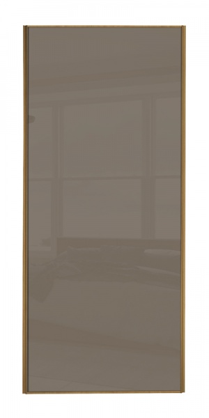 Classic Single Panel door with oak frame and single cappuccino glass panel