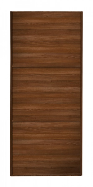 Classic Wideline door with walnut frame and walnut panels