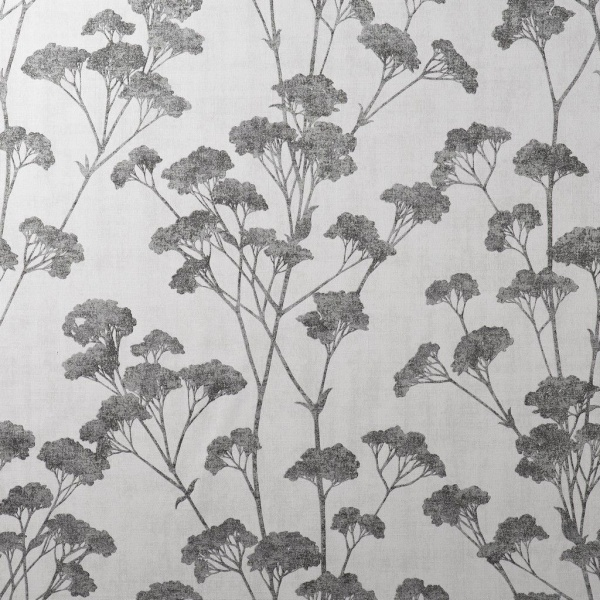 Crown Tulsa Sprig White/Charcoal Wallpaper (M1537)