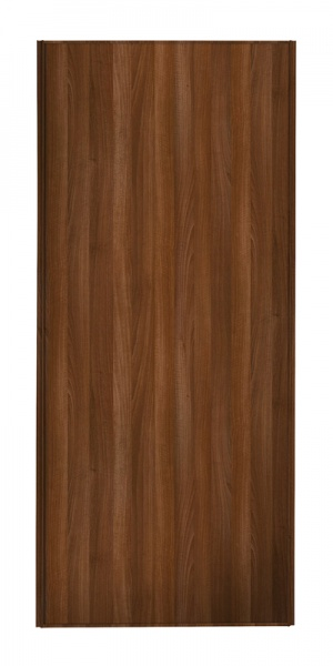 Heritage Single Panel door with walnut frame and single walnut panel