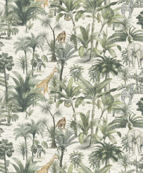 Muriva Safari Wallpaper - Green/Multi (176501)