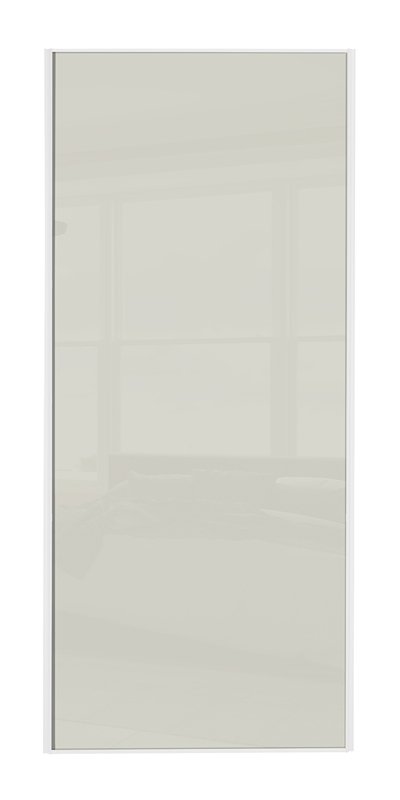 Classic Single Panel door with white frame and single arctic white glass panel