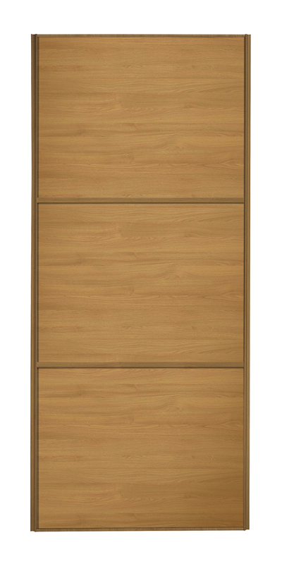 Classic Wideline door with oak frame and oak panels