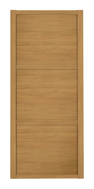 Shaker Wideline door with oak frame and oak panels