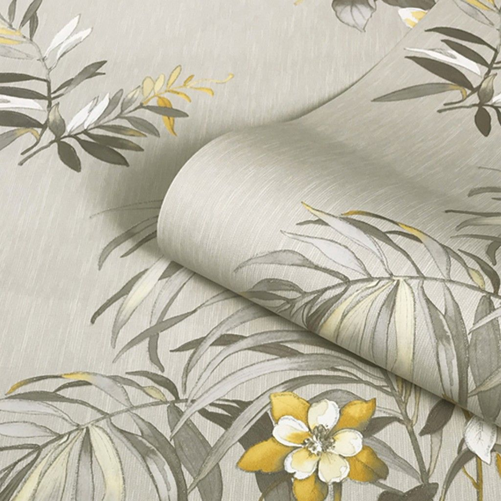 Belgravia Botanique Floral Wallpaper - Yellow/Cream (3423)