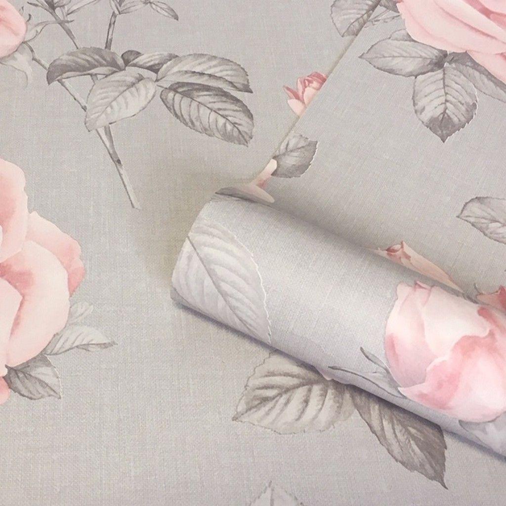 Belgravia Rosa Wallpaper Grey Blush Pink 9766 Www Batleydiy Co Uk