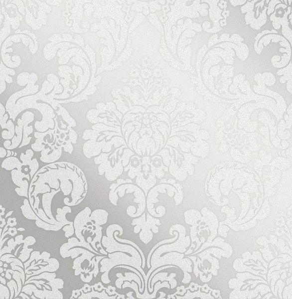Fine Decor Monaco Damask Two Tone Silver Wallpaper (FD42238)