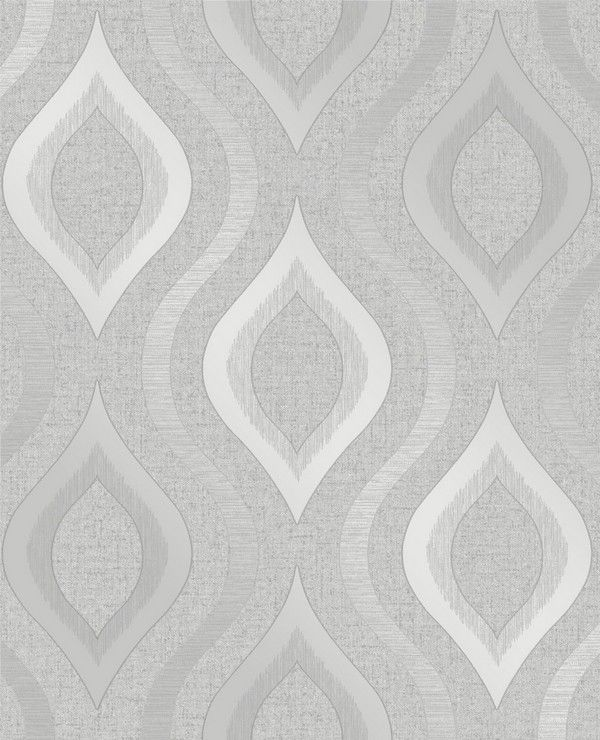 Fine Decor Quartz Geo Silver/Grey Wallpaper (FD41968)