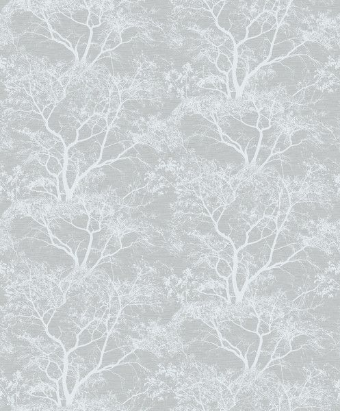 Holden Decor Whispering Trees Silver/Grey Wallpaper (65401)