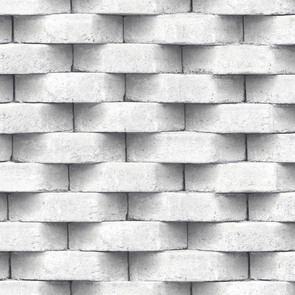 Muriva 3d Brick Effect Wallpaper Grey L57129 Www Batleydiy Co Uk